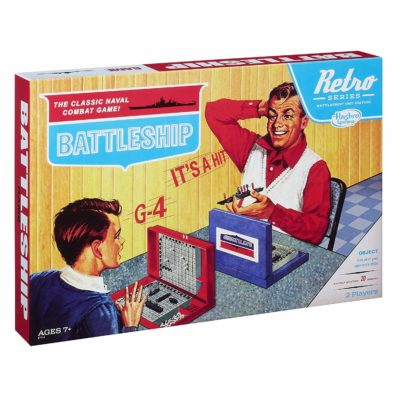 This is an image of a classic battleship game by Hasbro Gaming.