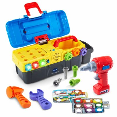 This is an image of a drill toy toolbox for kids.
