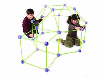 This is an image of a purple geometrical balls for kids.