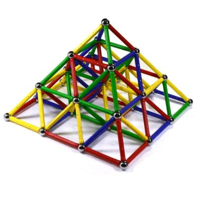 This is an image of a colorful magnetic building toy by CMS Magnetics.