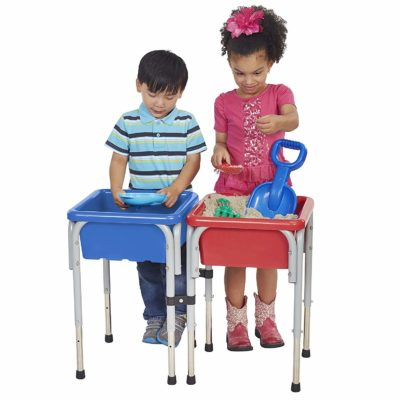 This is an image of a sand and water activity table by ECR4kids for kids.