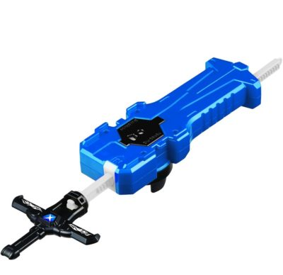 This is an image of a blue beyblade sword launcher by Takara Tomy.