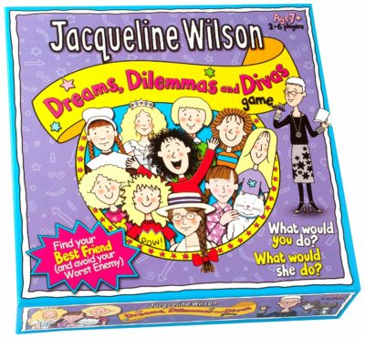 This is an image of a Jacqueline Wilson Dreams, Dilemmas and Divas board game by Paul Lamond Games.