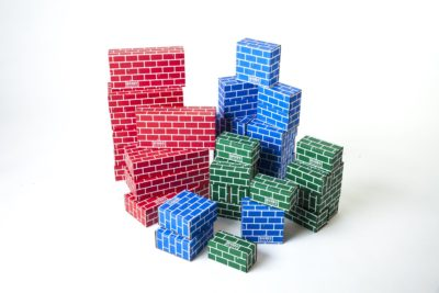 This is an image of a colorful brick blocks by Mondo Bloxx.