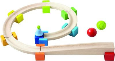 This is an image of a ball track building set for kids.