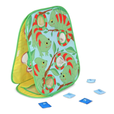 This is an image of a double sided beanbag game for kids.