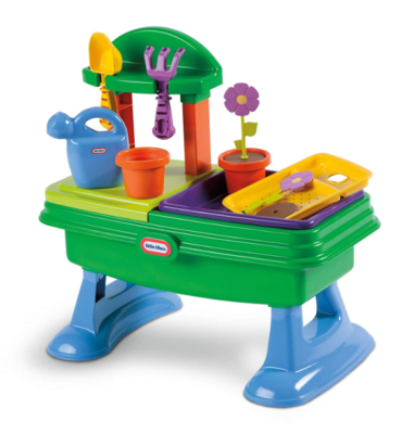 This is an image of a garden play table by The Little Tikes designed for kids.