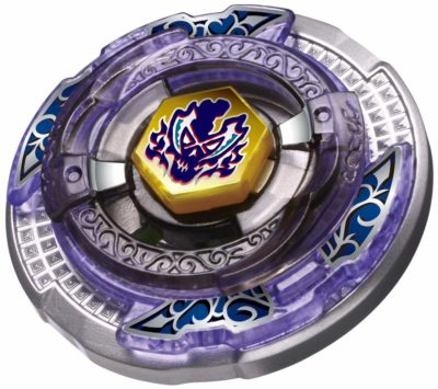 This is an image of a purple Metal Fusion battle starter set.