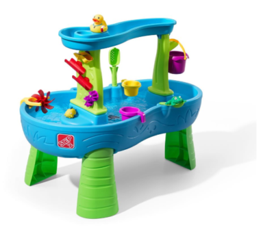 This is an image of a Rain Showers Splash Pond play table by Step2 designed for kids.