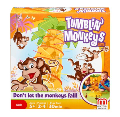 This is an image of a tumbling monkeys game for kids.