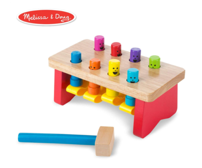 This is an image of a colorful pounding toy for kids.