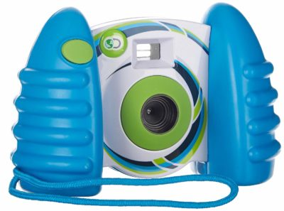 This is an image of a blue digital camera by Discovery Kids.