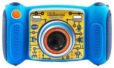This is an image of a blue kidizoom camera by VTech.