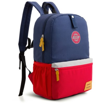 This is an image of a dark blue school bag by Mommore.