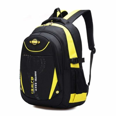 This is an image of a yellow school backpack by Mayzero.