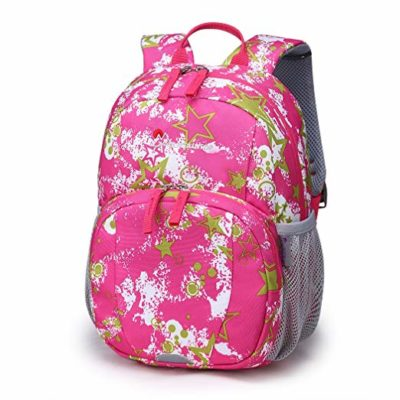 This is an image of a rose red backpack by Mountaintop for toddlers.