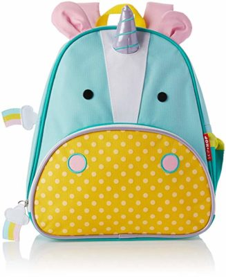 This is an image of a 12 inch unicorn backpack by Skip Hop.