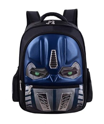 This is an image of a blue transformer backpack by Lusqik.