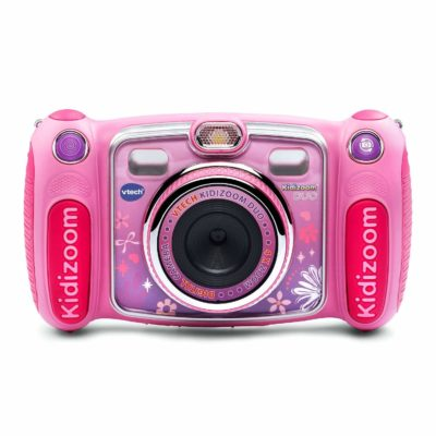 This is an image of a pink Kidizoom duo selfie camera by VTech.