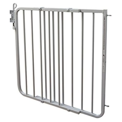 This is an image of a white auto lock gate by Cardinal.