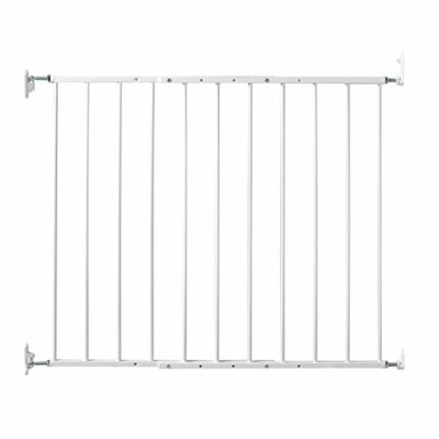 This is an image of a white safeway gate by Kidco.