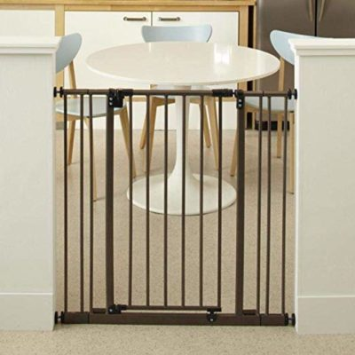 This is an image of a 38.5 inch bronze baby gate by North States.