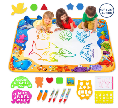 This is an image of a kid's doodle mat.