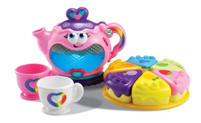 This is an image of a 6-piece musical tea party set.