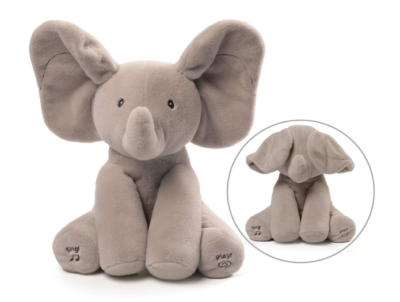 This is an image of a flapping ear elephant toy for little girls.