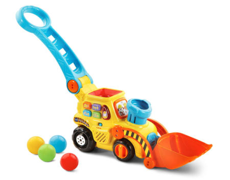 This is an image of a push and pop toy vehicle.