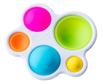 This is an image of a colorful push and pop baby toy.