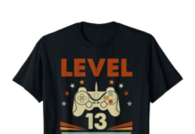 This is an image of a black t-shirt for 13 year old gamer.