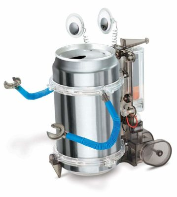 This is an image of a tin can robot for kids.