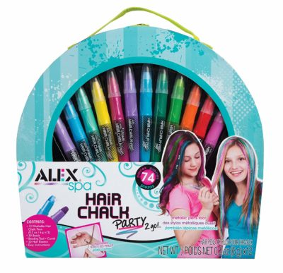 This is an image of a 74 piece hair chalk set.