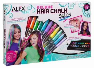 This is an image of a 12 bright hair color chalk.