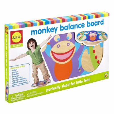 This is an image of a Monkey Balance board game by ALEX for kids.