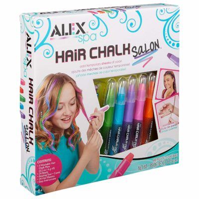 This is an image of a colorful hair chalk for kids.