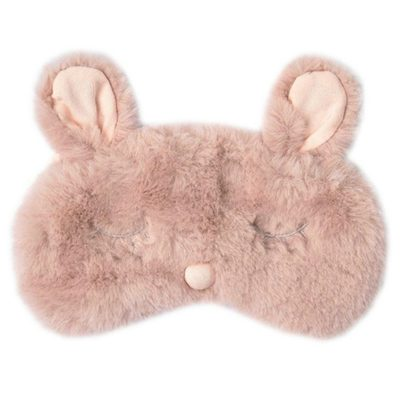 This is an image of a plush rabbit eye cover.