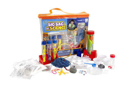 This is an image of a Big Bag of Science kit for kids.