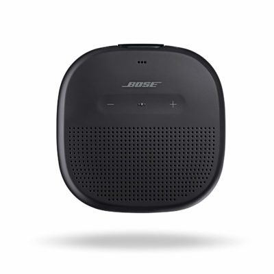 This is an image of a portable black speaker.