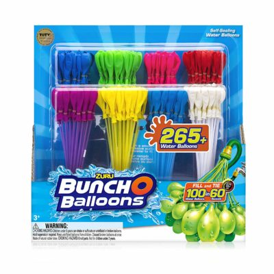 This is an image of a colorful 8 pack water balloons.