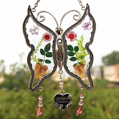 This is an image of a butterfly wind chime for teachers.