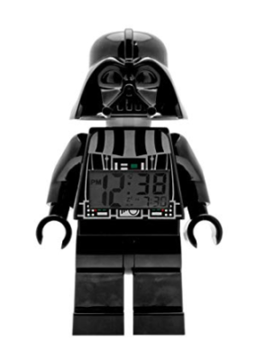 This is an image of a Darth Vader minifigure alarm clock for kids.
