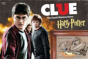 This is an image of a CLUE Harry Potter edition mystery board game for kids.