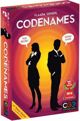 This is an image of a word board game called Codenames by Czech Games. by