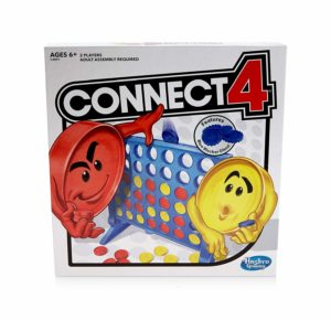This is an image of a Connect 4 board game by Hasbro Gaming for kids.