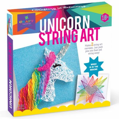 This is an image of a unicorn string craft kit.