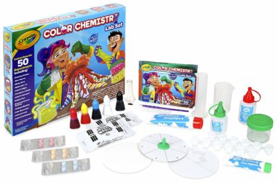 This is an image of a kid's Crayola chemistry set.
