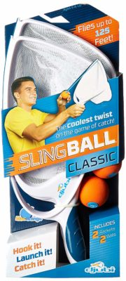 This is an image of a slingball catch game.