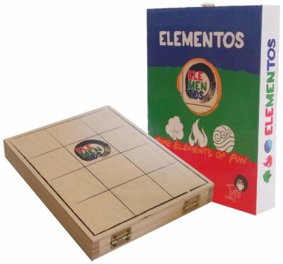 This is an image of an Elementos board game for kids.